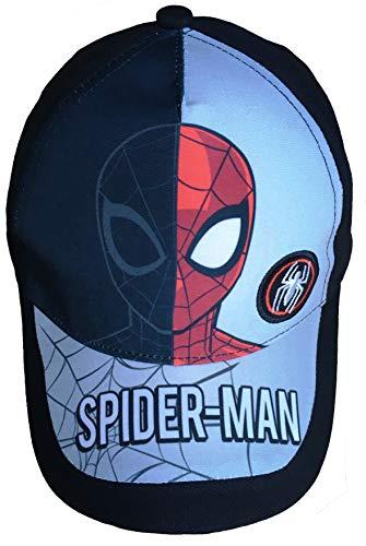 Spider-Man Cap,Schirmmütze, Kappe Rot/Schwarz (Variante 1, 54)