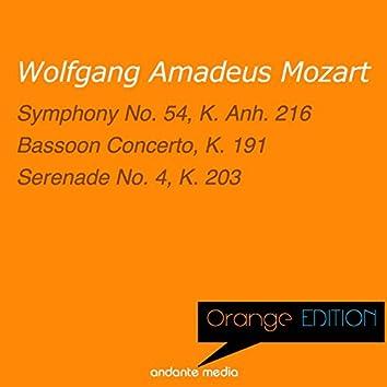Orange Edition - Mozart: Symphony No. 54, K. Anh. 216 & Serenade No. 4, K. 203
