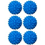 S&T INC. Reusable Laundry Dryer Balls, Soften and Fluff Laundry, Dark Blue, 2.5 in, 6 Pack
