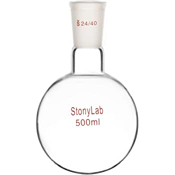 Round Bottom 5 L Capacity 24//40 Side Joint ACE Glass Incorporated 29//42 Center Joint ACE Glass 6944-62 Three Neck Boiling Flask