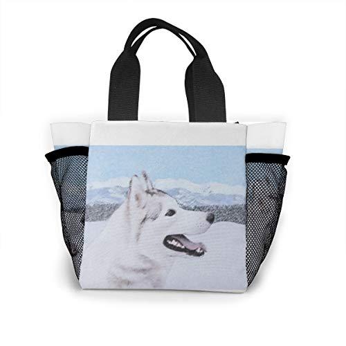 Lunch-Tasche für Damen, Handtasche, Lunch-Tasche für Arbeit, Picknick oder Reisen – Husky Welpe 2