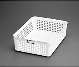 Inomata 4583 Name B5 Basket, White