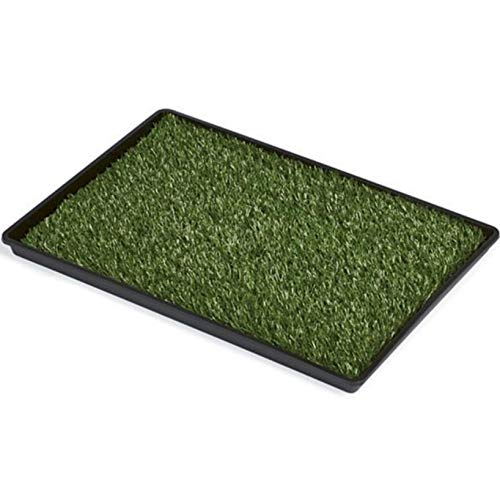 Mr. Peanut's Potty Place - Artificial Grass Puppy Pad for Dogs and Small Pets – Portable Training Pad with Tray (Small)