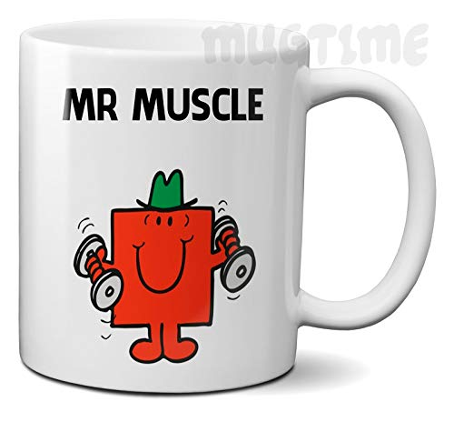 Mugtime (TM) - Mr Men Muscle New Ceramic Mug Coffee Tea Gym Funny Humour - 11oz 330ml