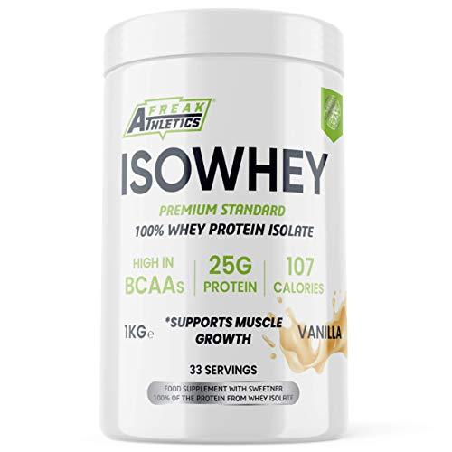 Whey Protein Isolate Powder 1kg by Freak Athletics - Premium Isolate Whey...