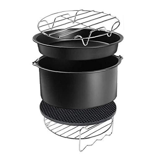 Air Fryer Set accessori con torta di cottura della latta Pizza Teglia Grill Rack Insulation Pads per Air Fryer cottura 6in 5pcs Mobili da giardino
