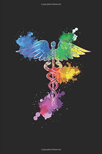 Watercolor Caduceus Medical Notebook