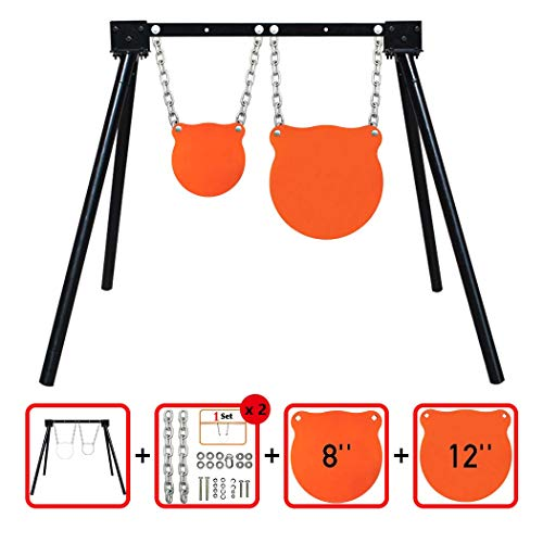 Highwild Steel Target Stand AR500 Shooting Target System (1 Stand, 2 Mounting Kits & 8'+ 12' Gongs)
