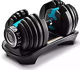 Gold Grade Goods 1 Blue Adjustable Dumbbell, For Men's and Women's Fitness, Weight Set, Fitness,...
