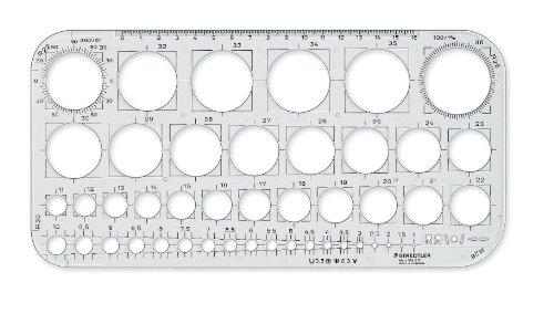 Staedtler 576 01 F - Plantilla de círculos, transparente