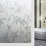 LMKJ Opake Bambus dekorative Fensterfolie Vinyl statische Aufkleber Selbstklebende Privatsphäre Glas Aufkleber Fensterfolie A2 60x100cm