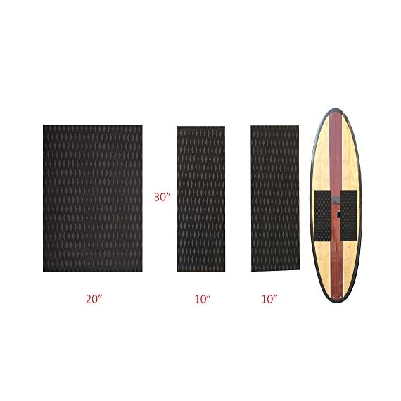 Abahub Non-Slip Traction Pad Deck Grip Mat 30in x 20in Trimmable EVA Sheet 3M Adhesive for Boat Kayak Skimboard… 3 SUPERIOR ANTI-SLIP TRACTION: In 3mm depth diamond grooves, this trimmable EVA pad provides a nice textured surface with excellent grip. CUSTOMIZE TO FIT: In size of 30''x 20'', it's trimmable and versatile. It's perfect for SUP boards, surfboards, boat decks, kayaks, skimboards, swimming pool steps, skateboards and more. PREMIUM QUALITY: Along with the brand new A-grade EVA material, all Abahub traction pads utilize certificated resin and original marine grade 3M self adhesive backing. Our processing experience also guarantees the superb stickiness won't be compromised by EVA dust generated during production.