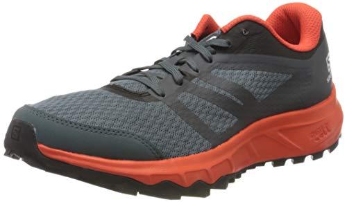 Salomon Herren Trail Running Schuhe, TRAILSTER 2, Farbe: grau (Stormy Weather/Cherry Tomato/Ebony) Größe: EU 43 1/3
