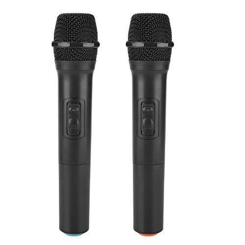 Micrófono inalámbrico, micrófono inalámbrico universal VHF inalámbrico de mano con receptor/antena micrófono profesional dinámico vocal para karaoke, reuniones de negocios.