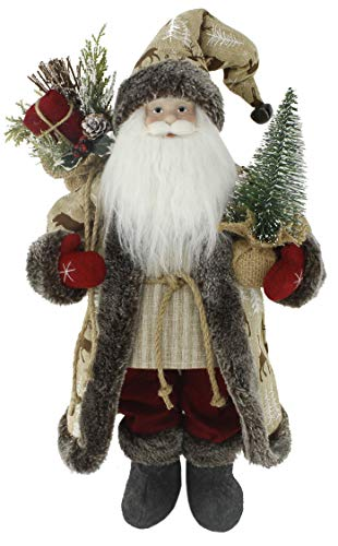 Windy Hill Collection Woodland Reindeer with Red Mittens 18' Inch Santa Claus Standing Figurine Figure Decoration 180037
