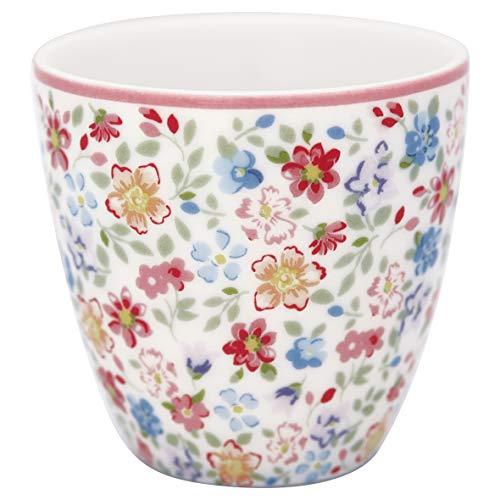 GreenGate - Espressotasse, Kaffeetasse, Mini Latte Cup - Clementine - Porzellan - White - 125 ml