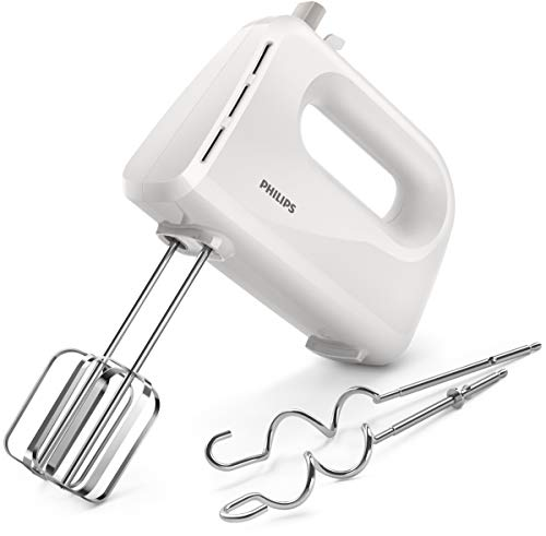 Philips Cucina HR3705/00 Batteur électrique Collection Daily Blanc, 300 W
