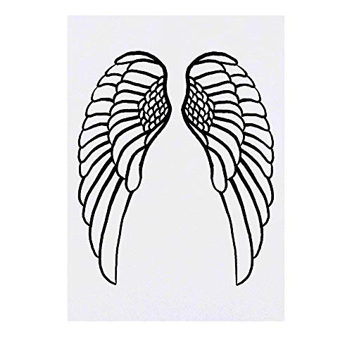 Grand 'Ailes d'Anges' Tatouages temporaires (TO00022907)