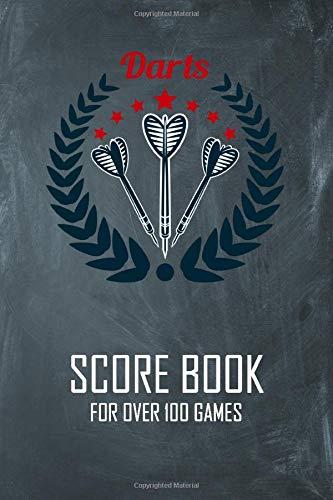 Darts Score Book for over 100 Games: Dart Player Training Notebook, Scorer Notepad, Cricket Score Record Journal, with Dart Out Chart, Dart Gift for Men, Kids, Women