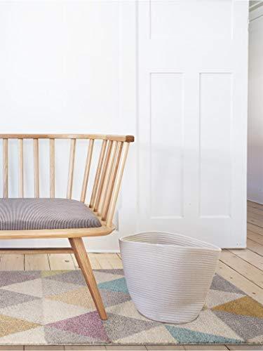 benuta Alfombra Pastel Geomet   Moderna Alfombra para salón y Dormitorio, Fibra sintética, Multicolor, 140 x 200 cm