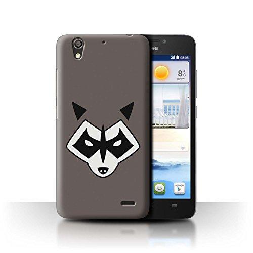 Hülle Für Huawei Ascend G630 Superheld Comic-Kunst Rocket Raccoon Inspiriert Design Transparent Ultra Dünn Klar Hart Schutz Handyhülle Case