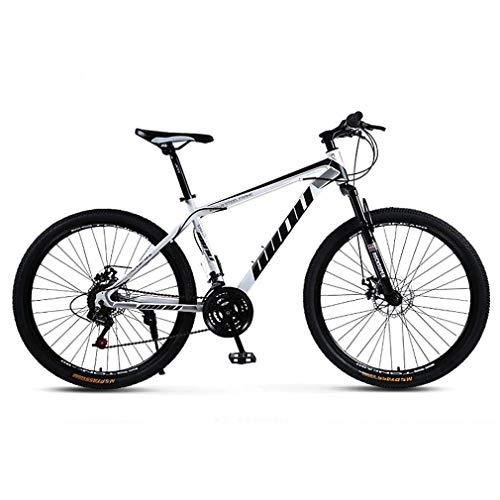 ZGYQGOO Mountain Bike per Adulti, Acciaio di Alta Carbonio Telaio, Spiaggia motoslitta Biciclette, Biciclette Doppio Freno a Disco Cruiser, 26 Pollici in Lega di Alluminio Ruote