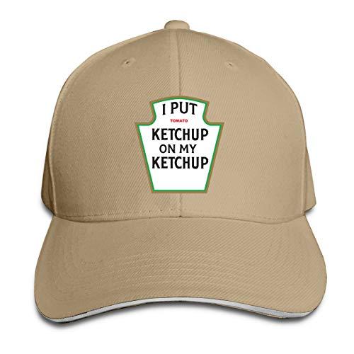 downthrow Casquette I Put Ketchup On My Ketchup Registrabile della Protezione di Baseball Trucker Hat, Naturale