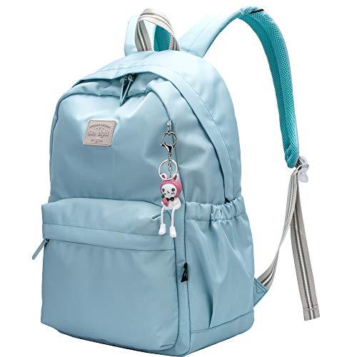 Casual Daypack Light School Backpack Canvas Bookbag 14' Laptop Backpack Travel Daypack (Green)