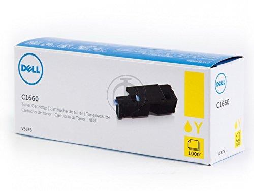 Original Dell C1660W Standard Capacity Yellow Toner - Kit ca. 1.000 Seiten