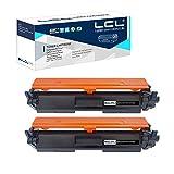 LCL Compatible Cartucho de tóner 30A 230A CF230A CRG-220 Reemplazo para HP Laserjet Pro M203dn 203dw HP Laserjet Pro MFP M227fdw 227sdn (2-Pack Negro) con Chip