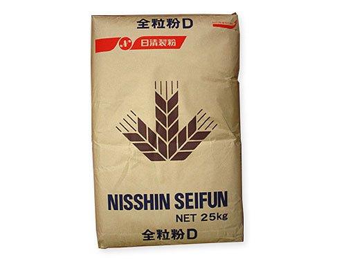 日清製粉 全粒粉D 国産小麦全粒粉 薄力タイプ 25kg 業務用