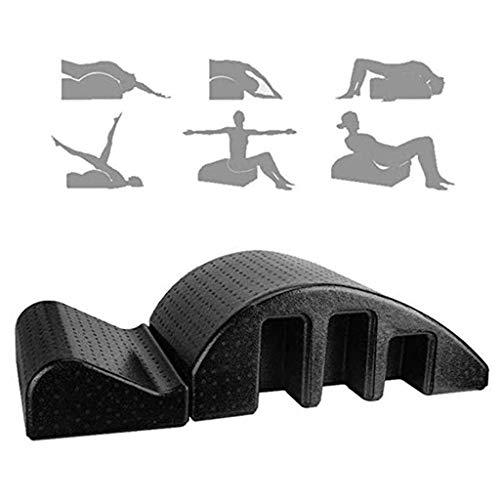 A&DW Yoga Pilates cuña Mesa de masajes Spine Corrector, el Dolor de Espalda Alivio de alineación de la Columna Vertebral de la vértebra Cervical Yoga Corrector, Negro