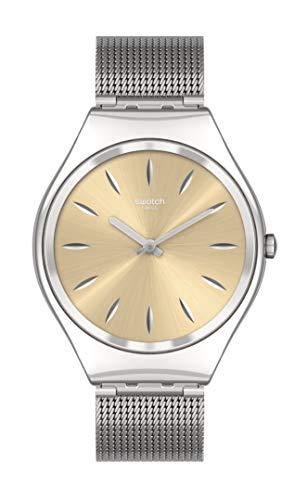 Swatch Unisex_Adulto Cuarzo st. Correa de acero, gris, 16 Reloj Casual (Modelo: SYXS133M)