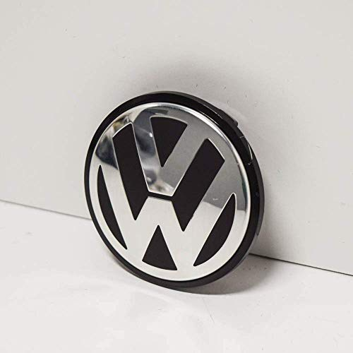 Genuine VW Alloy Wheel Centre Cap Satin Black High Chrome 65mm - 3B7601171 XRW