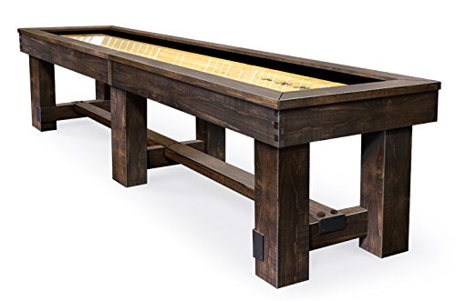 Best Deals! Olhausen Shuffleboard The Breckenridge – 12' x 20 - Matte Finish on Pine – Includes...