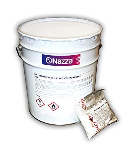 Pintura Bicomponente Especial para Pasos de Cebra y Señalización Vial | 15 KG. | Color Blanco