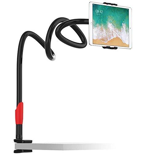 EasyAcc 360 Drehen Handyhalter Tablet Ständer Schwanenhals Halterung Smartphones Halter Tablet Halterung Handy Einer Länge von 1 Meter Für Smartphones iPhone XS max xr Galaxy S9 iPads,(Schwarz)