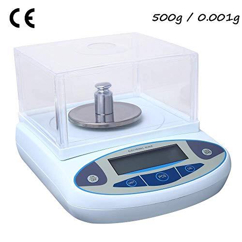 S SMAUTOP 500g/0,001g Labor analyse-weegschaal 1mg zeer nauwkeurige elektronische wetenschappelijke analyse-weegschaal met kalibratiegewicht 220V voor laboratoria, scholen, apotheken en juweliers