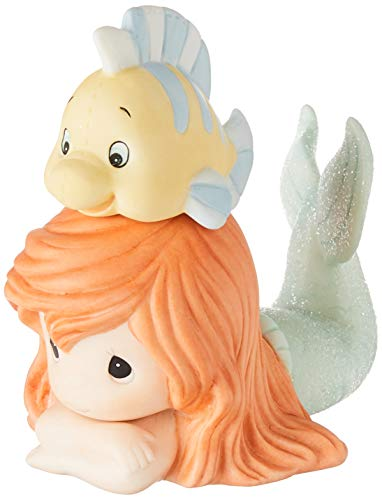 Precious Moments, Disney Showcase The Little Mermaid, Ariel Figurine, Life Is Better With A Good Friend, Porcelain, #171094