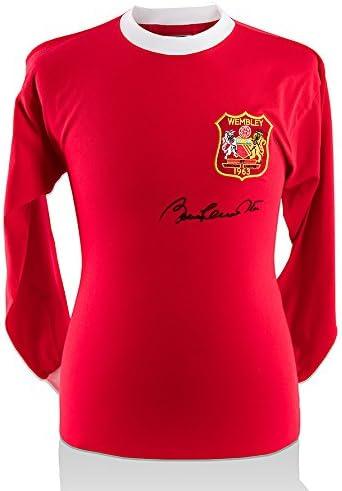 Sir Bobby Charlton Firmado Manchester United camisa – 1963 FA ...