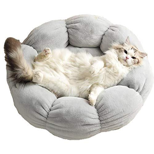 01 02 015 Cat Bed, Soft Comfortable Flower Dog Sleeping Mat, Washable Warm Pet Nest, For Travel, Living Room, Bedroom.