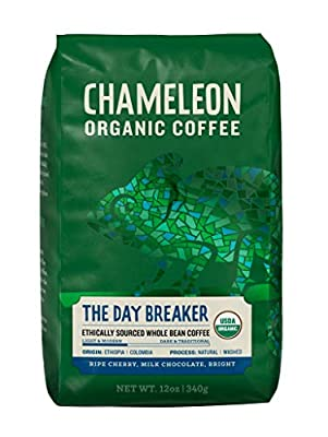 Chameleon, USDA Organic Arabica Whole Bean Coffee, 12 Ounce Bag from Chameleon Cold-Brew