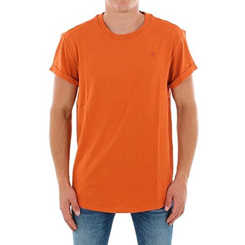 Camiseta G-Star Hombre Naranja SHELO R T SS