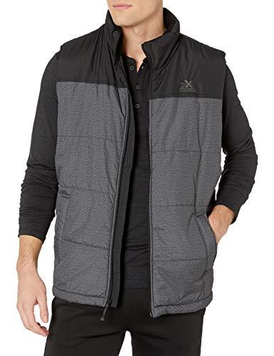 ZeroXposur Men's Block-Quilted Puffer Vest, Black Denim, Medium