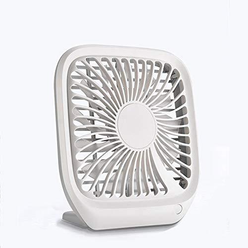LJJ Elektrische ventilator, Draagbare Mini USB Opladen geruisloos Desktop Elektrische Ventilator Cadeau Decoratie Zomer kantoor draagbare desktop stille ventilator vierkante elektrische ventilator