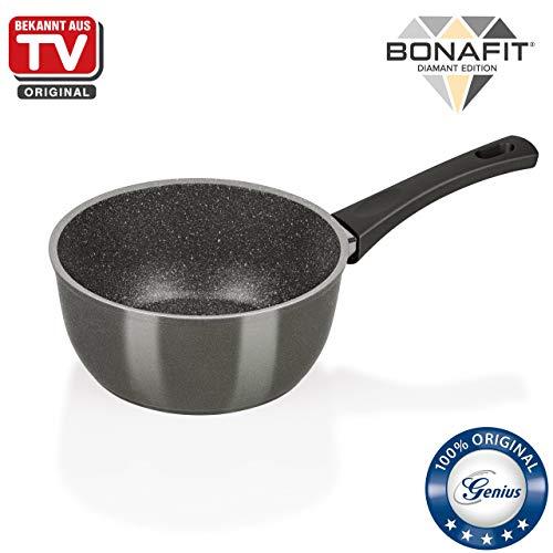 Genius Bonafit Stielkasserolle, Patentierte 3-lagige Beschichtung, Ø18 cm