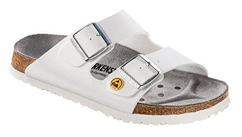 BIRKENSTOCK Professional Unisex-Erwachsene Arizona Birko-Flor Esd Pantoletten, 42 EU, Weiß Weiß