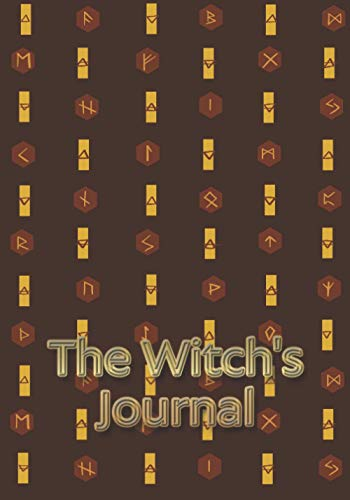 The Witch's Journal: Runic alphabet with symbols of Earth, Air, Water and Fire.