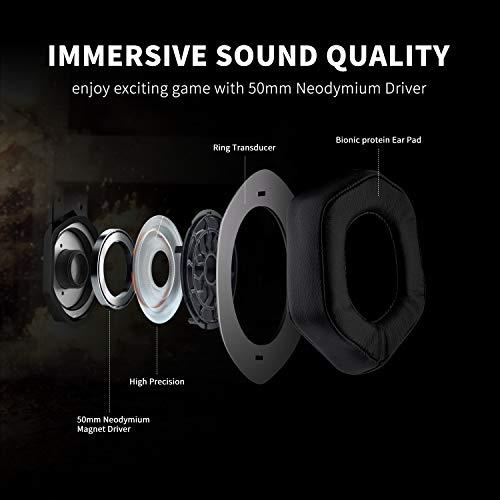Cuffie per Gaming Luce LED e Microfono Che elimina i rumori Stereo Super Basse con Suono Avvolgente PC PS Vita Smartphone PS4 GAKOV GAMV3 Compatibile con Xbox One