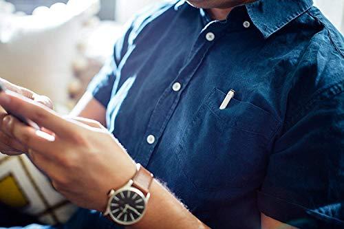 Adonit Mini 3 kapazitiver Eingabestift für alle Smartphones/Tablets wie Apple iPhone/iPad etc. - silber [Aluminium | Trageclip | Ergonomisches Design] - ADJM3S